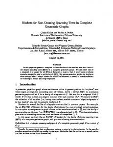 Blockers for Non-Crossing Spanning Trees in Complete ...