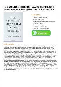 BOOKS How to Think Like a Great Graphic Designer ONLINE ...