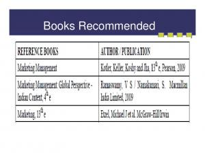 Books Recommended -