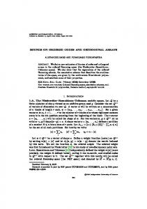 BOUNDS ON ORDERED CODES AND ORTHOGONAL ARRAYS 1 ...