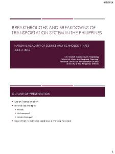 Breakthroughs and Breakdown of Transport System Philippines.pdf ...