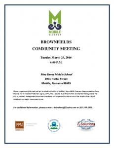 brownfields community meeting - City of Mobile