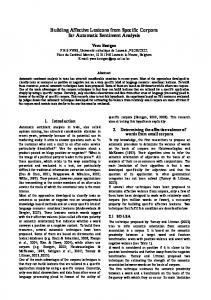 Building Affective Lexicons from Specific Corpora for ...