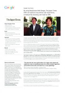 By using Responsive Web Design, The Japan ...  Services