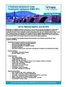 Call for Abstracts Deadline: June 26, 2015 -