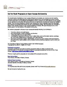 Call for Book Proposals on Open Access Scholarship -