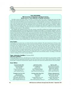 CALL FOR PAPERS List of topics Paper submission deadline: 31 ...