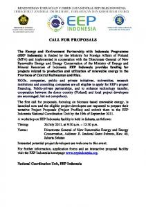 call for proposals -