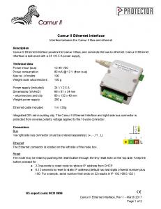 Camur II Ethernet Interface