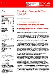 CapitaLand Commercial Trust (CCT SP)-Hold ...