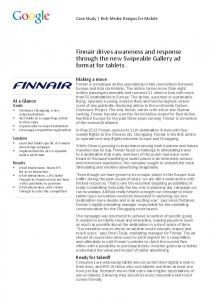 Case Study- Finnair 2012 - Mobile Marketing Association