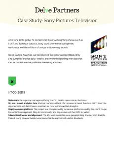 Case Study: Sony Pictures Television