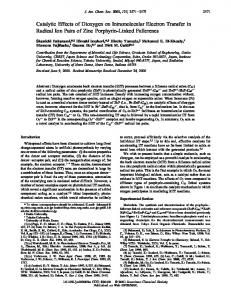 Catalytic Effects of Dioxygen on Intramolecular Electron Transfer in ...