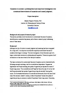 Causation in context: a philosophical and empirical ...
