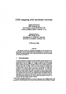 CDO mapping with stochastic recovery - CiteSeerX