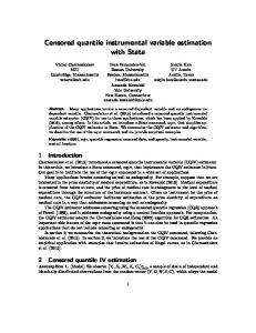 Censored quantile instrumental variable estimation with ...
