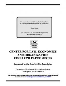 center for law, economics and organization research ... - SSRN papers