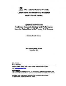 Centre for Economic Policy Research