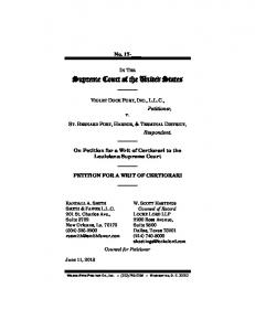 cert petition - Supreme Court