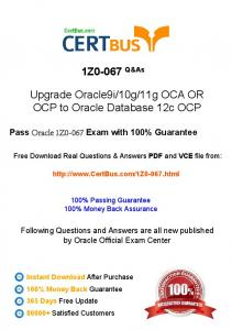 CertBus-Oracle-1Z0-067-Study-Materials-Braindumps-With-Real ...
