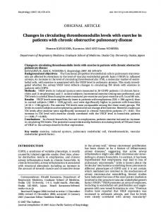 Changes in circulating thrombomodulin levels ... - Wiley Online Library