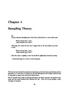 Chapter 4 Sampling Theory