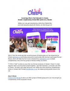 Cheers Announces Complimentary Drinks With Absolut.pdf  ...
