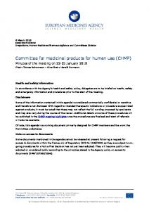 CHMP Minutes January 2018 for publication - European Medicines ...
