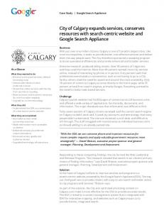 City of Calgary expands services, conserves resources with ...