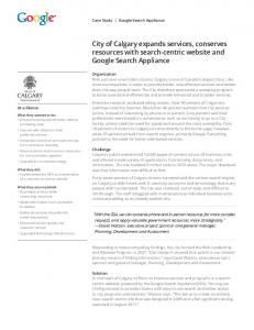 City of Calgary expands services, conserves resources with search ...