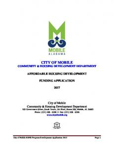 city of mobile community & housing development department ...