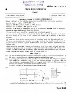 Civil Engineering Paper - UPSC
