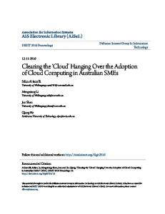 Clearing the 'Cloud' Hanging Over the Adoption of ... - Semantic Scholar