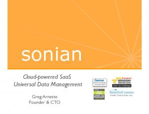 Cloud-powered SaaS Universal Data Management