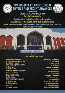 cme on applied radiological physics and recent advances - IRIA Delhi