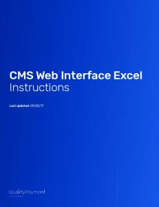 CMS Web Interface Excel Instructions -