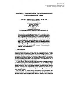 Coevolving Communication and Cooperation for ...