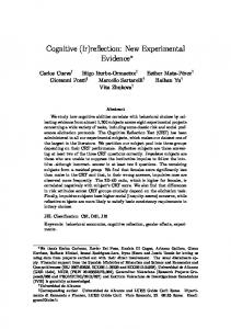 Cognitive (Ir)reflection: New Experimental Evidence