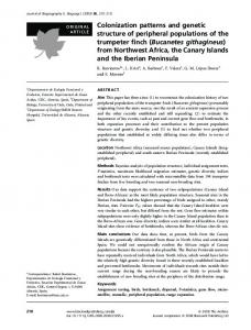 Colonization patterns and genetic structure of ... - Wiley Online Library