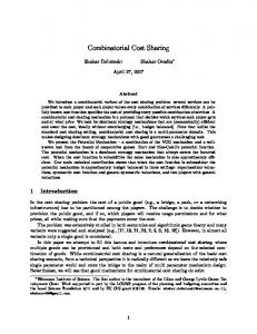 Combinatorial Cost Sharing