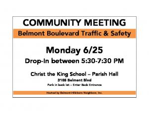COMMUNITY MEETING Monday 6/25 -