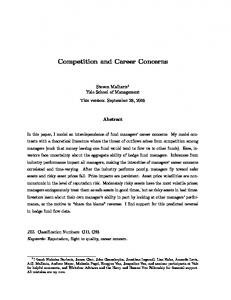 Competition and Career Concerns