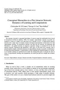 Conceptual Hierarchies in a Flat Attractor Network: Dynamics ... - UTSC