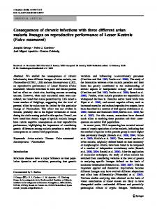 Consequences of chronic infections with three different ... - Springer Link