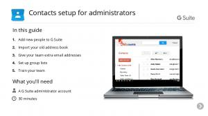 Contacts setup for administrators