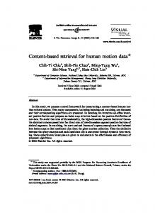 Content-based retrieval for human motion data