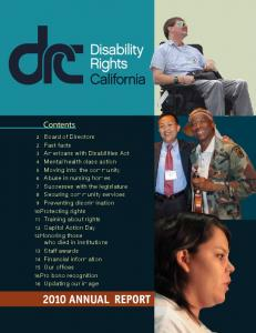 Contents - Disability Rights California