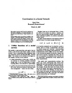 Coordination in a Social Network
