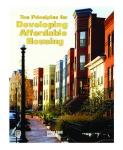 Copy of ULI Report - 10 Principles for Developing Affordable ...
