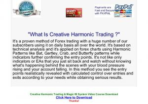 Creative Harmonic Trading & Magic IB System Video Course ...